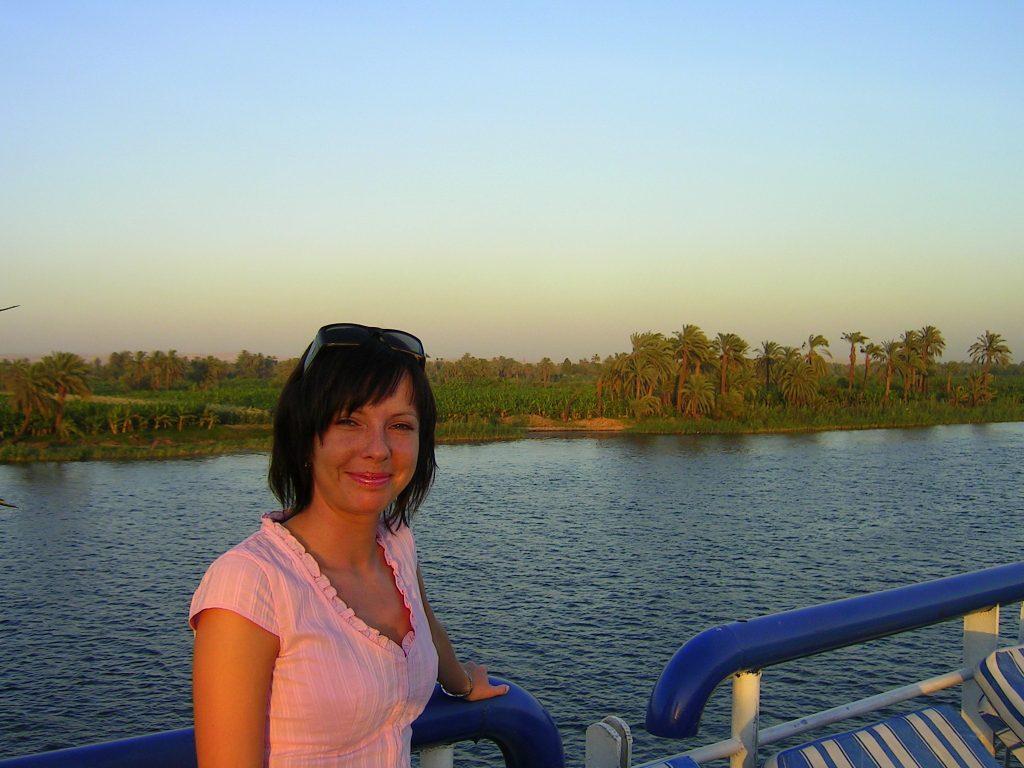 Zachody słońca nad Nilem.